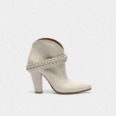 Low white Michelle ankle boots