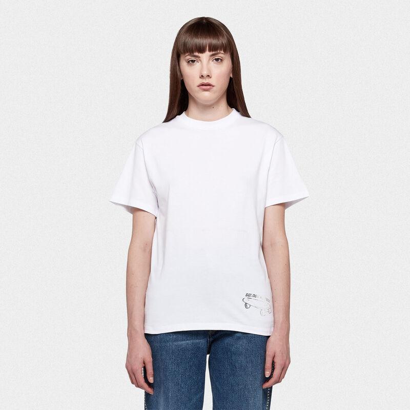 Golden Goose - T-shirt Golden con stampa skateboard in  image number null