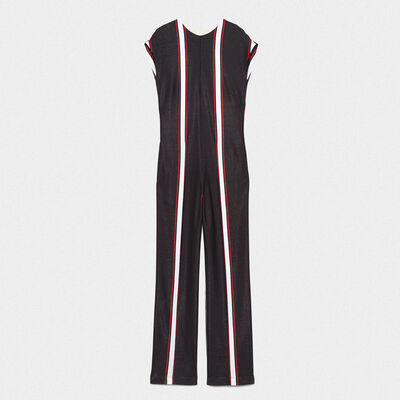 Narumi jumpsuit with contrasting vertical stripes