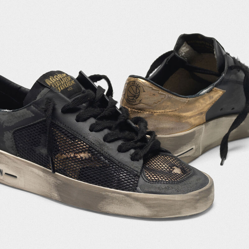 Golden Goose - Sneakers Stardan LTD black&gold distressed  in  image number null