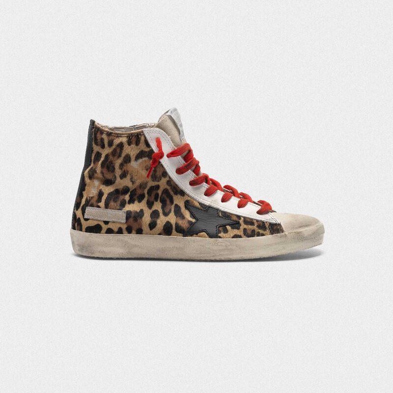 Golden Goose - Francy sneakers in leopard-print pony skin   in  image number null