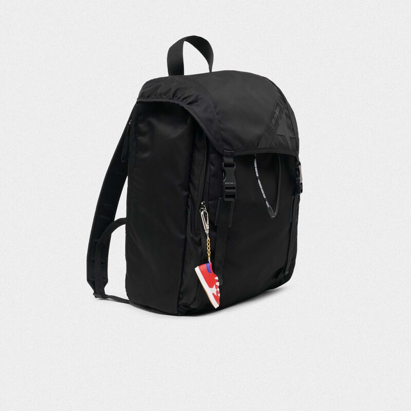 Golden Goose - Black nylon Journey backpack in  image number null