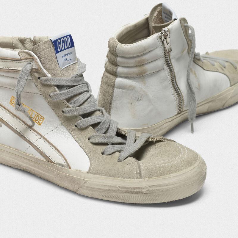 Golden Goose - Sneakers Slide in pelle con stella e dettagli in camoscio in  image number null