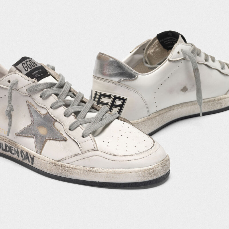 Golden Goose - White Ball Star sneakers with handwritten lettering in  image number null