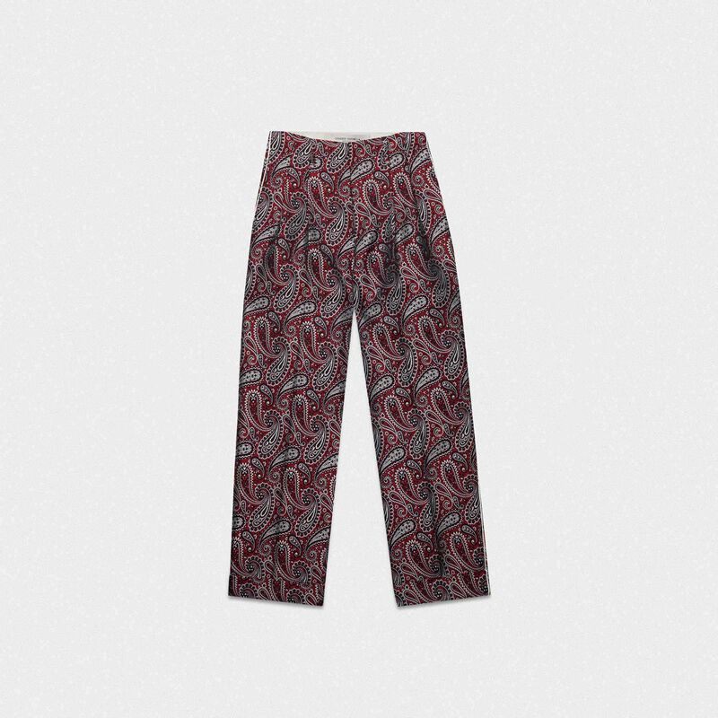 Golden Goose - Sally trousers with paisley jacquard motif   in  image number null