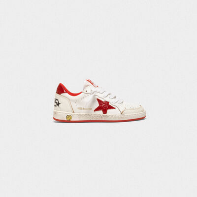 Ball Star sneakers in leather with glossy star and heel tab