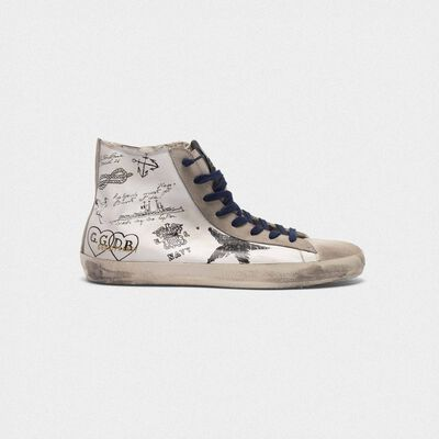 Francy sneakers in leather with tattoo prints
