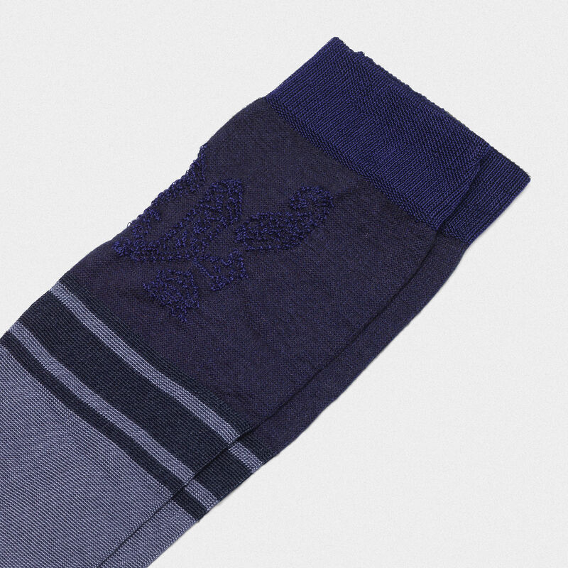 Golden Goose - Turquoise Addison socks with jacquard pattern in  image number null