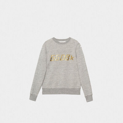 Grey Aiako sweatshirt in pure cotton with logo print