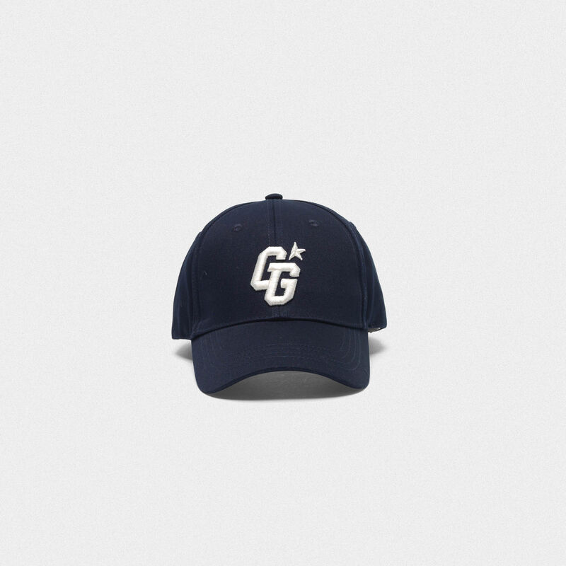 Golden Goose - Aki baseball cap with GG embroidery in  image number null