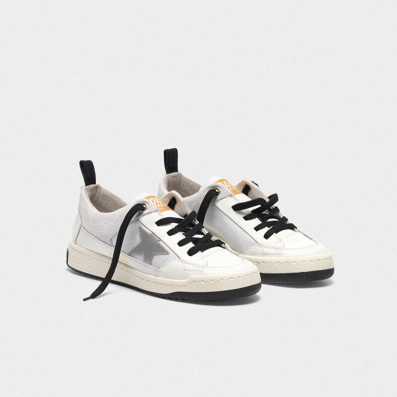 Golden Goose - White Yeah! sneakers with silver star in  image number null