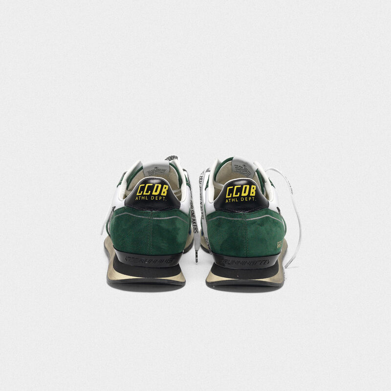 Golden Goose - White and green Running sneakers in suede in  image number null