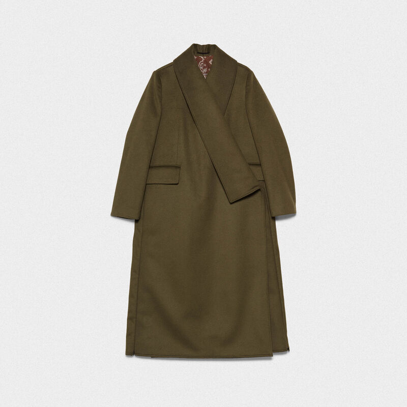 Golden Goose - Cappotto Kigiku A-line in misto lana in  image number null