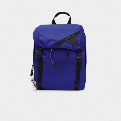 Royal blue nylon Journey backpack