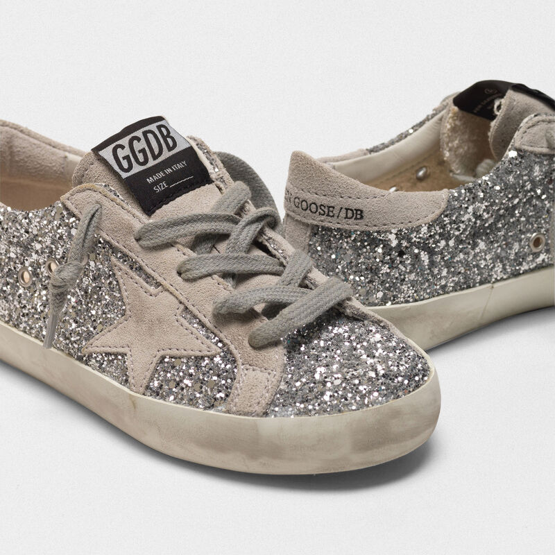 Golden Goose - Sneakers Superstar con glitter argentati in  image number null