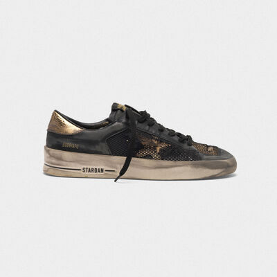 Stardan LTD sneakers in leather with distressed mesh inserts