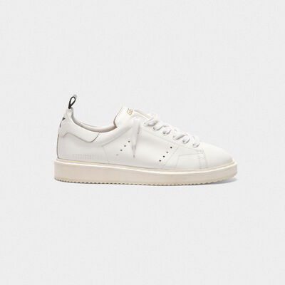 Sneakers Starter in pelle total white