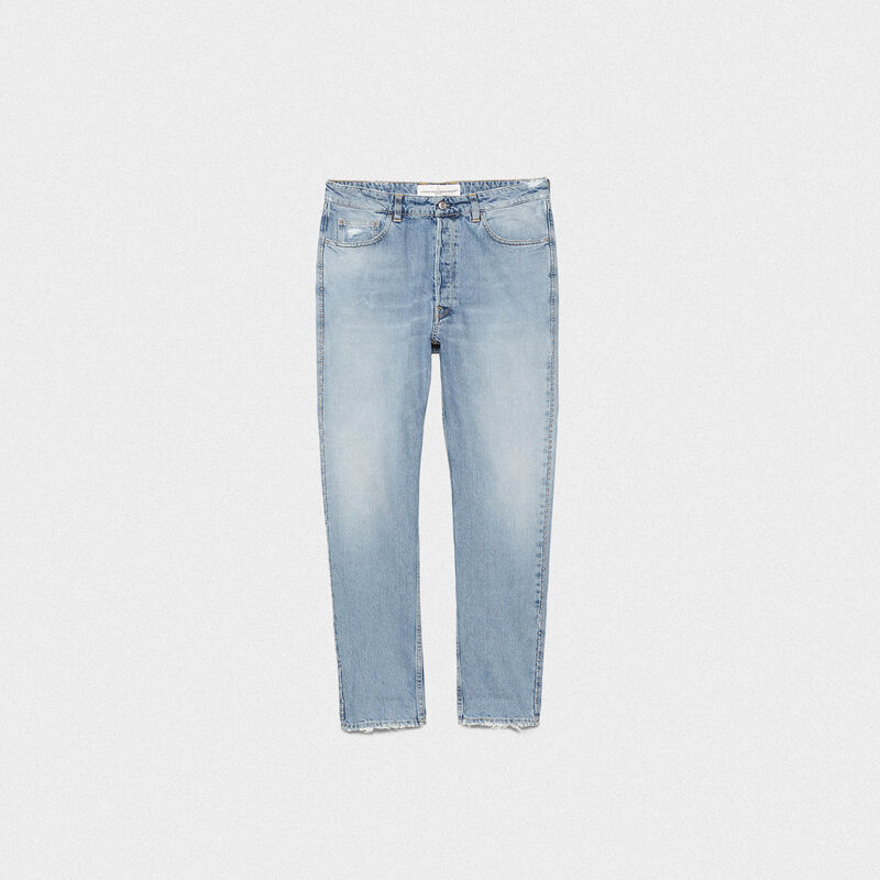 Golden Goose - Jeans Happy slim fit con borchie decorative in  image number null