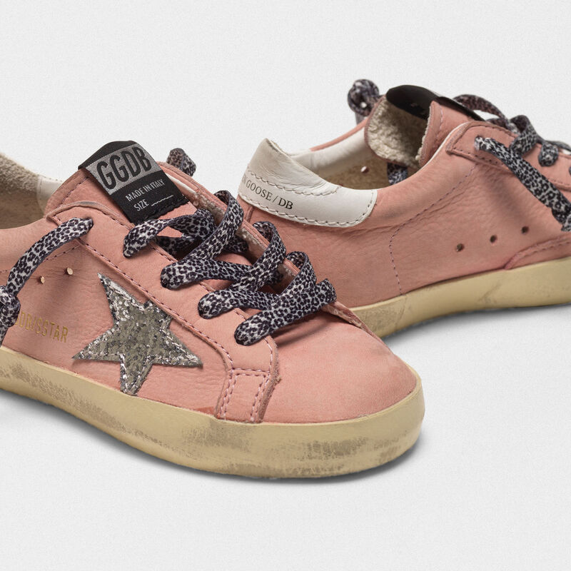 Golden Goose - Sneakers Superstar in nabuk con stella glitter in  image number null