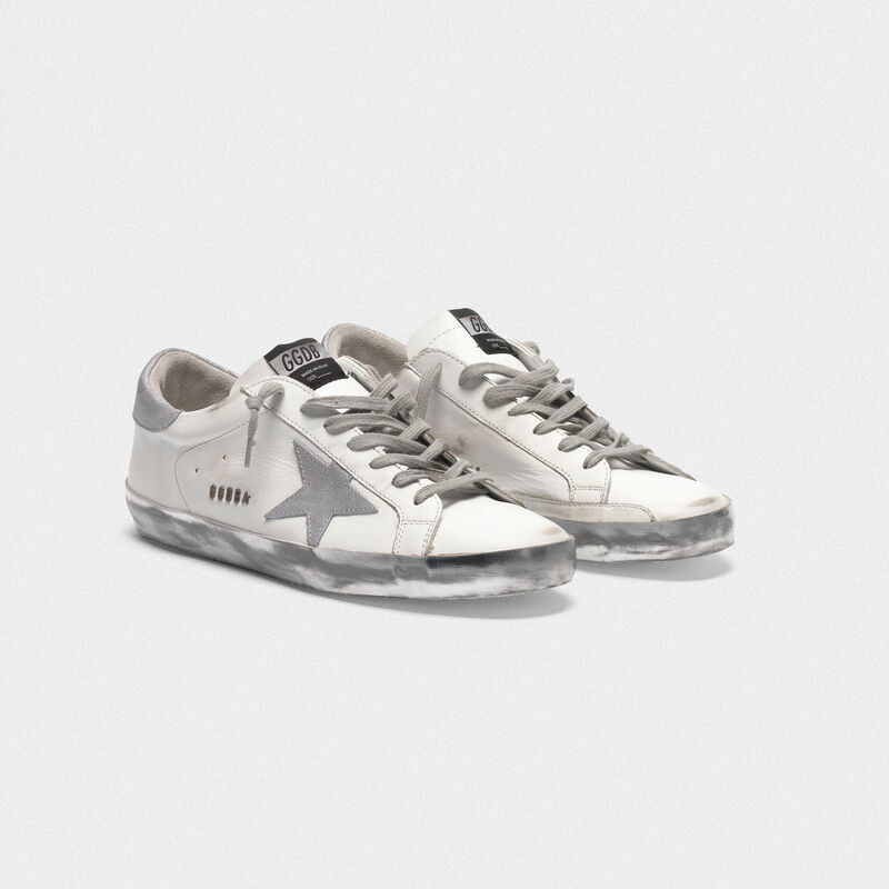Golden Goose - Sneakers Superstar con stella e talloncino in glitter in  image number null