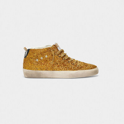 Mid Star sneakers with weaved finish and metallic inserts