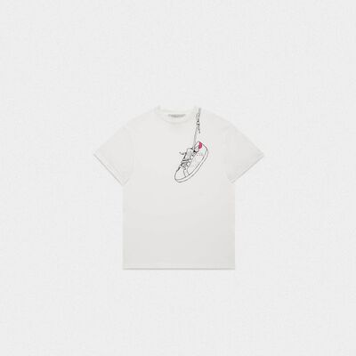 Golden T-shirt with archive print