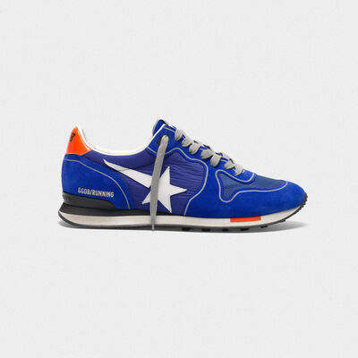 Sneakers Running blu elettrico con stella bianca