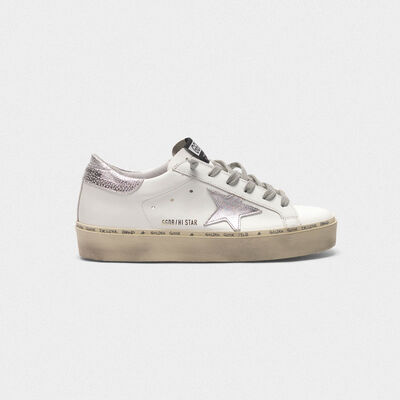 Hi Star sneakers with star and heel tab in metallic silver
