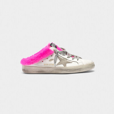 Superstar sabot sneakers with shearling insert