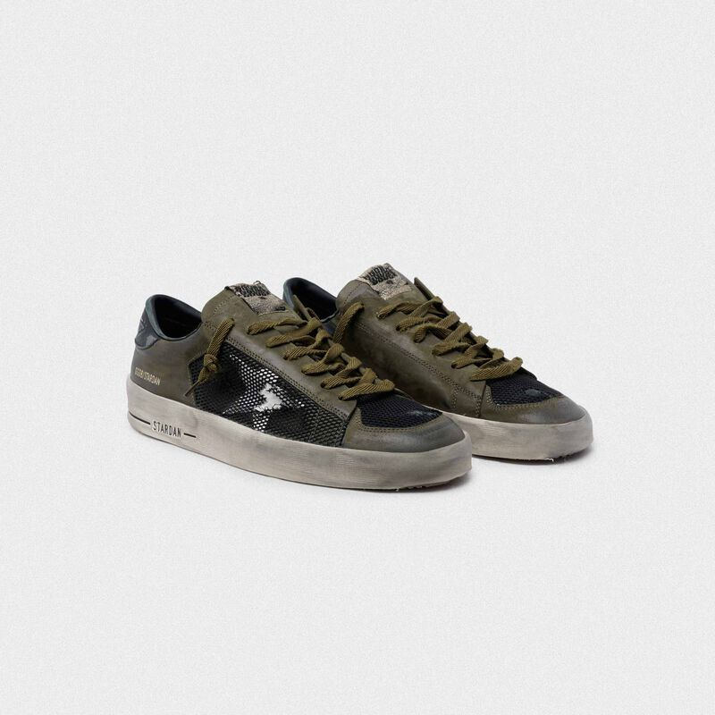 Golden Goose - Military green and black Stardan sneakers in  image number null