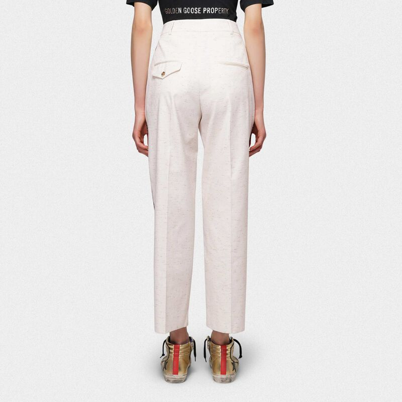 Golden Goose - Pantaloni fitted Austin in cotone con fili multicolore in  image number null