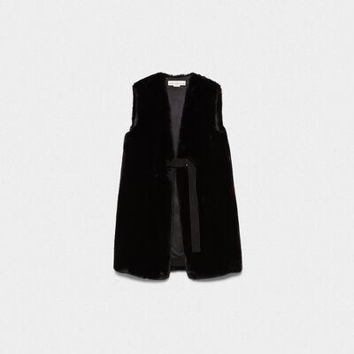 Aiko faux fur waistcoat