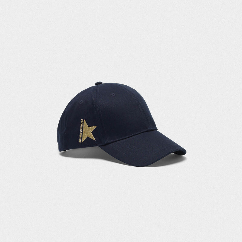 Golden Goose - Aki baseball cap in cotton drill in  image number null