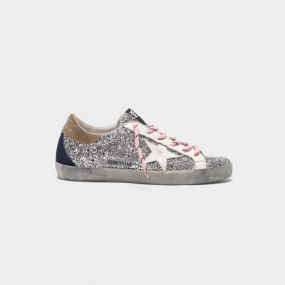 Superstar sneakers with glitter upper and white star