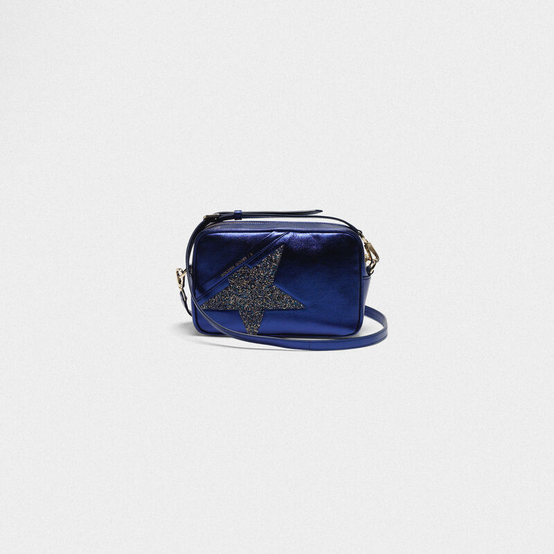 Golden Goose - Borsa Star Bag in pelle laminata con Swarovski in  image number null