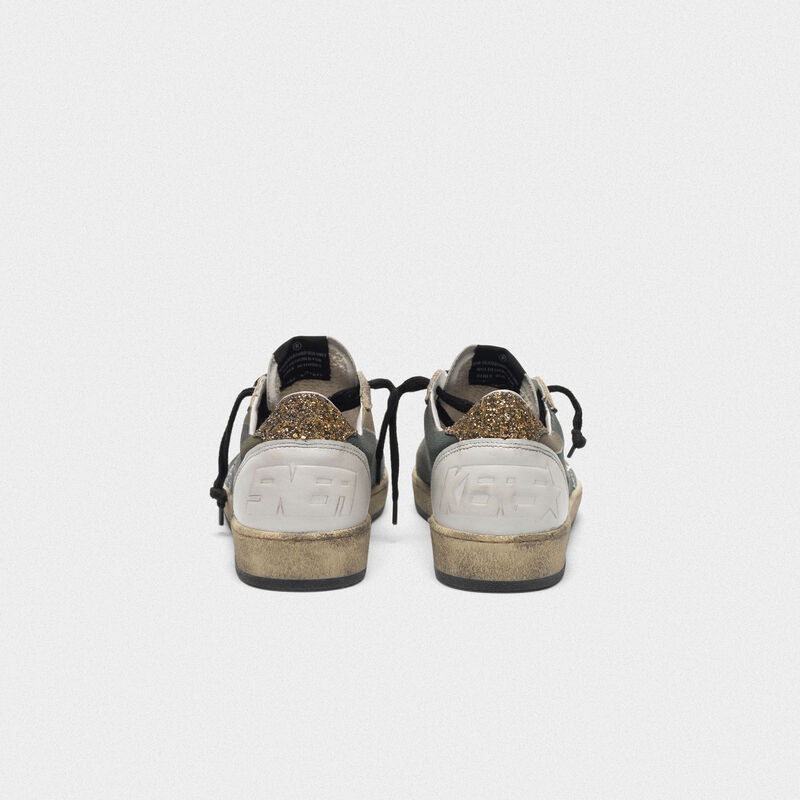 Golden Goose - Camouflage Ball Star sneakers with glittery star and heel tab in  image number null