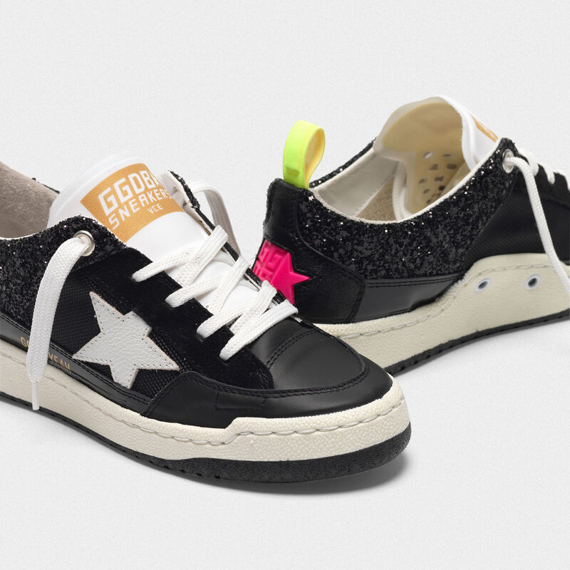 Golden Goose - Black Yeah! sneakers with white star in  image number null