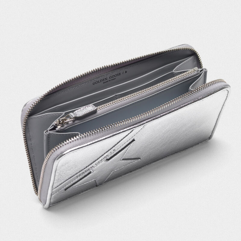 Golden Goose - Large silver Star Wallet   in  image number null