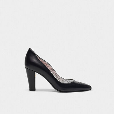 Black Gabrielle pumps with graffiti