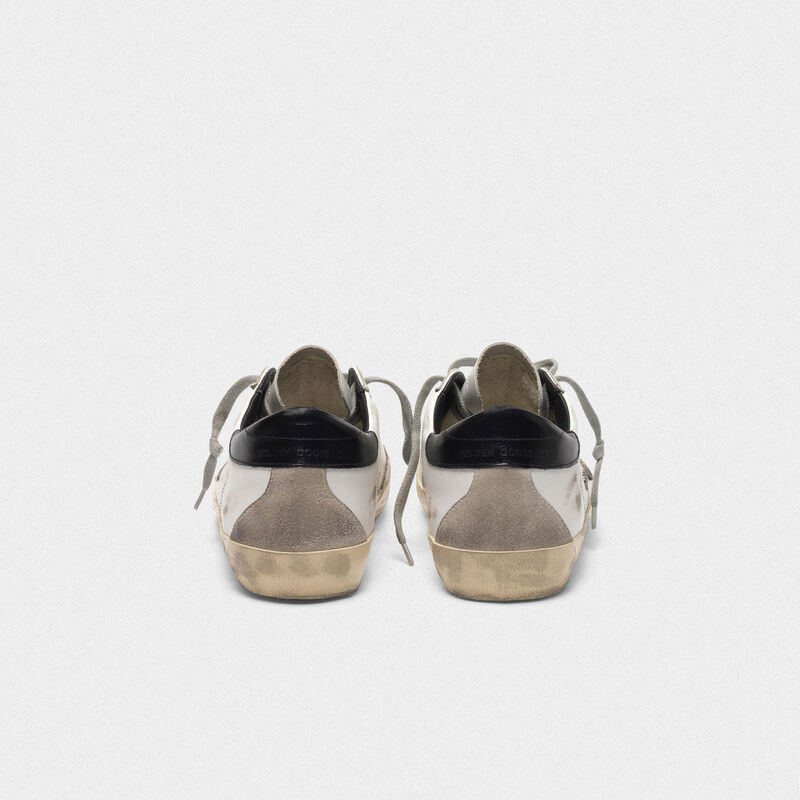 Golden Goose - Superstar sneakers in leather with glossy heel tab in  image number null