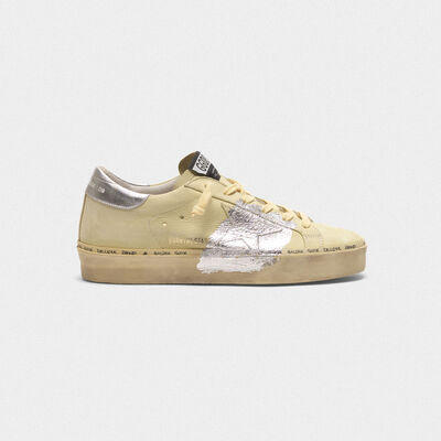 Hi Star Sneakers in nubuck and silver leaf strap