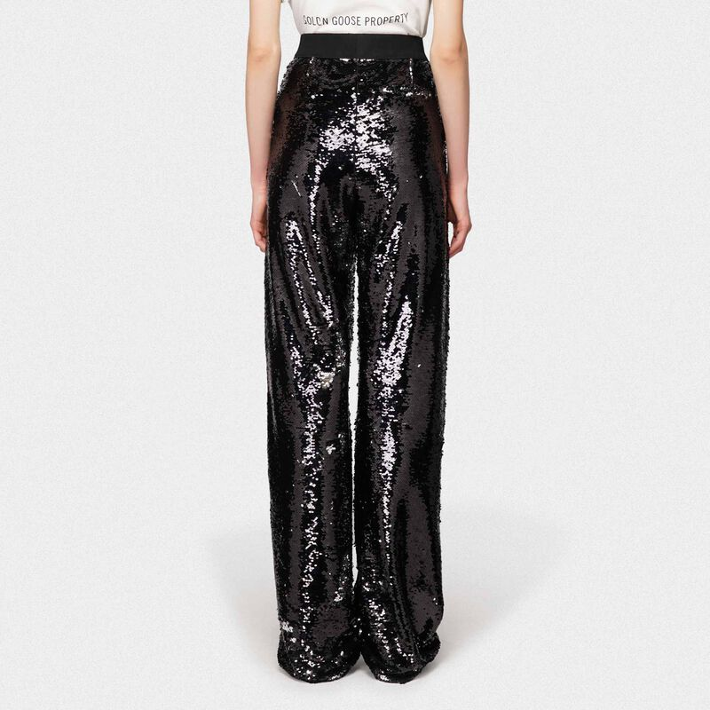 Golden Goose - Kelly tracksuit trousers with silver sequins in  image number null