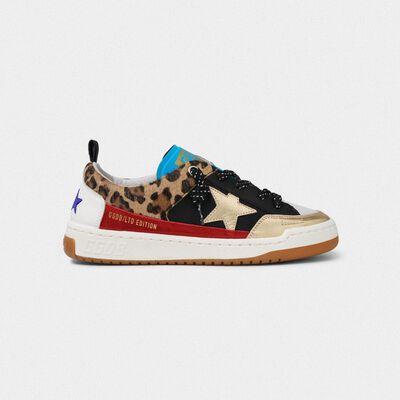 Sneakers Yeah! leopardate con stella dorata