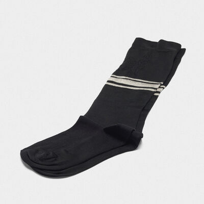 Black Addison socks with jacquard pattern