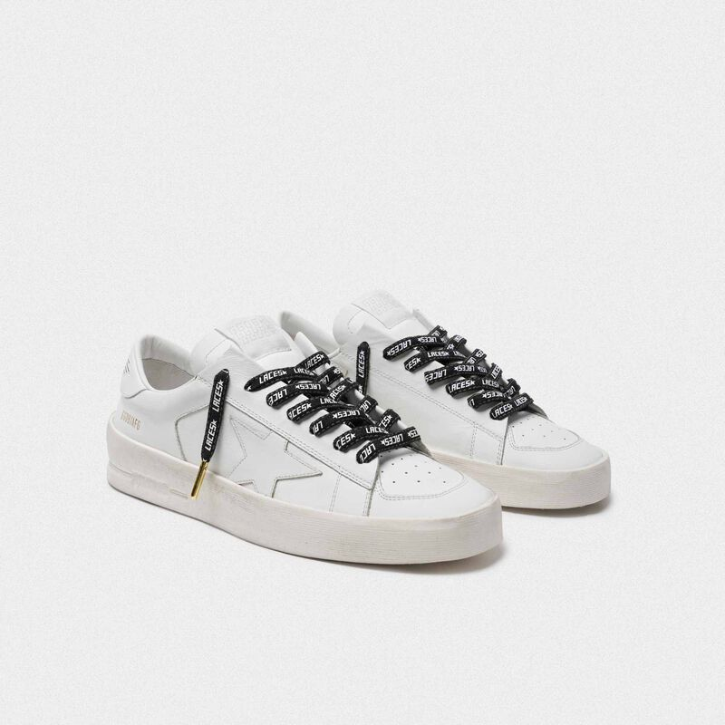 Golden Goose - Men's denim laces with white laces print in  image number null