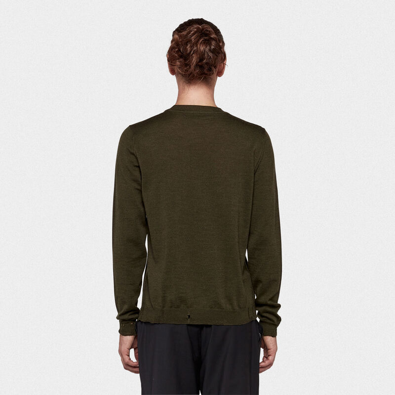 Golden Goose - Shin round neck sweater in extrafine merino wool in  image number null