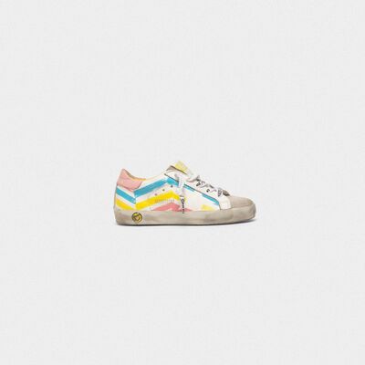 Superstar sneakers with multicolour flag print