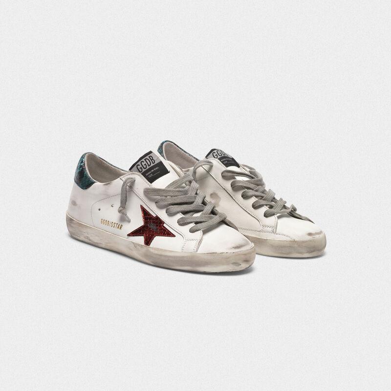 Golden Goose - Sneakers Superstar avec étoile et talon en imprimé serpent in  image number null