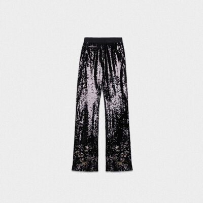 Kelly tracksuit trousers with silver sequins