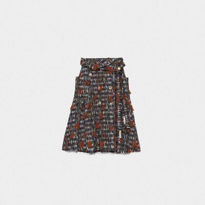 Makiko skirt in multicolor tweed